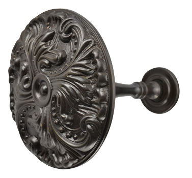 Solid Brass Baroque Curtain Tie Back (Oil Rubbed Bronze Finish)