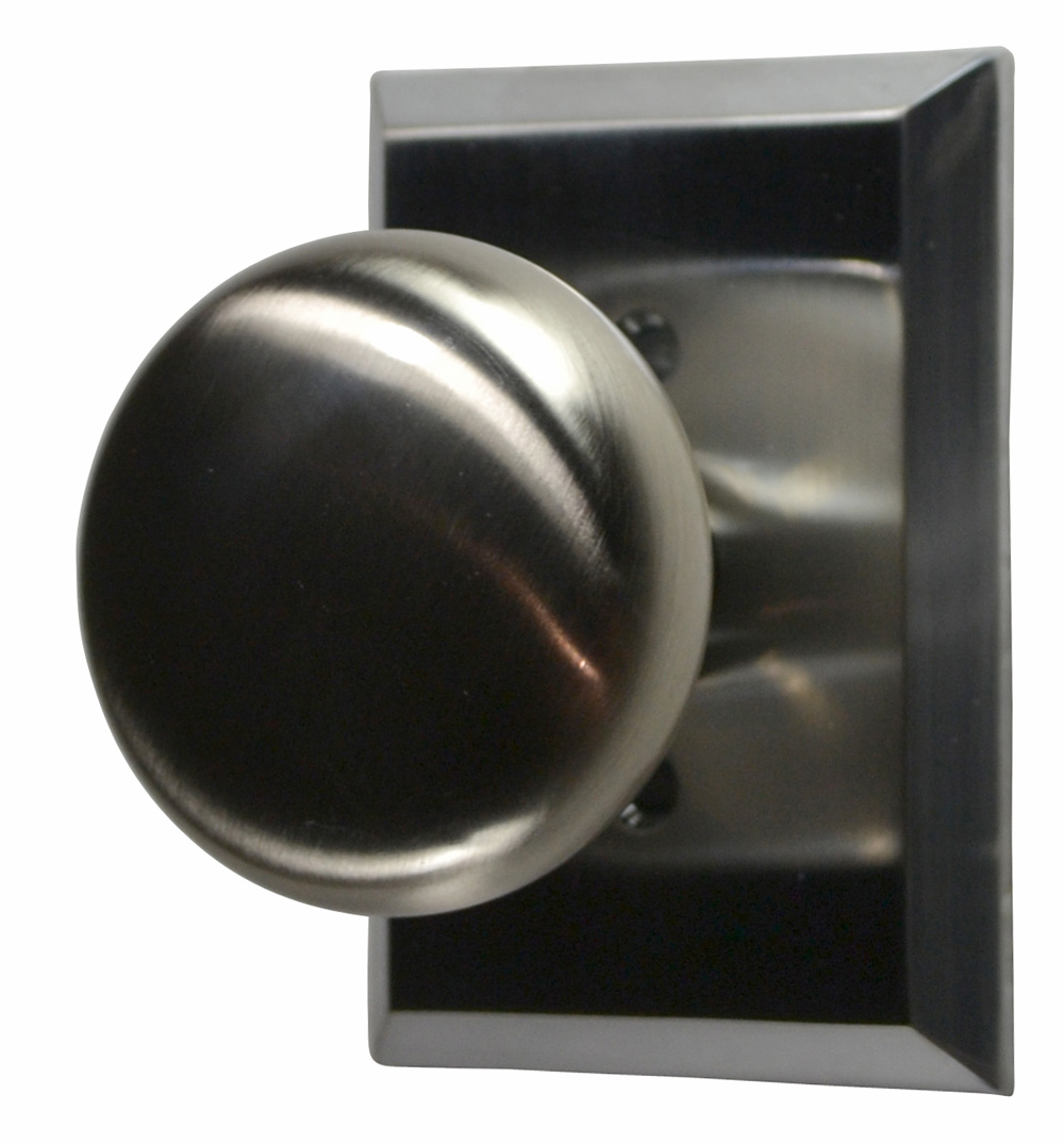 Traditional Round Brass Door Knob (Brushed Nickel Finish)