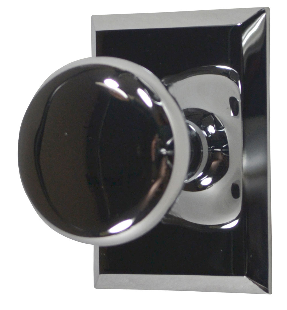 Traditional Round Brass Door Knob (Polished Chrome Finish)