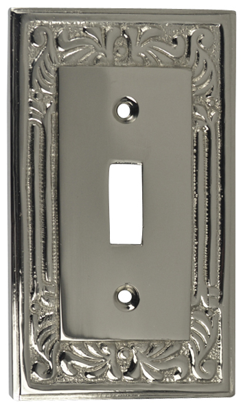 Queen Anne Style Switch Plate (Polished Nickel)