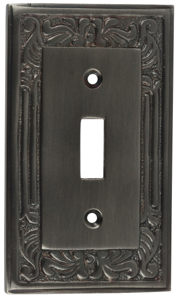Queen Anne Style Switch Plate (Antique Nickel)