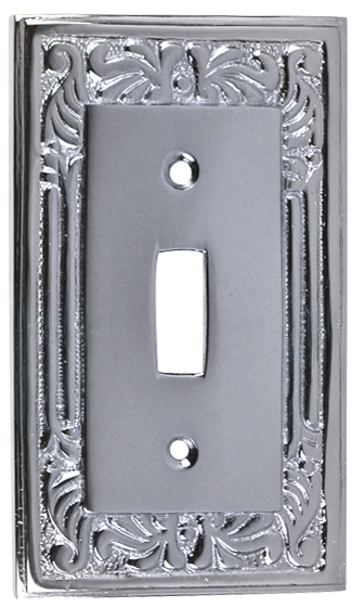 Queen Anne Style Switch Plate (Polished Chrome)