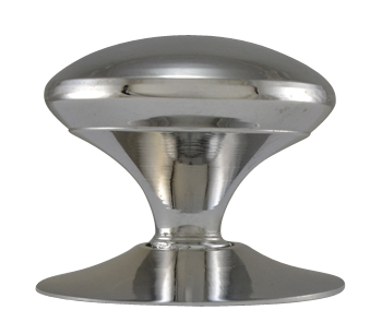 1 1/2 Inch Solid Brass Traditional Round Knob (Polished Chrome Finish)