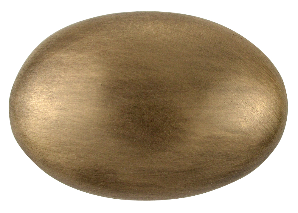 1 1/2 Inch Heavy Traditional Solid Brass Egg Cabinet Knob (Antique Brass Finish)