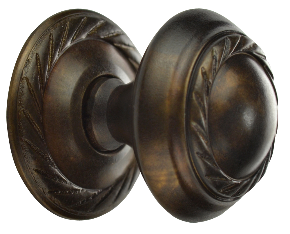 1 Inch Solid Brass Georgian Roped Round Knob (Oil Rubbed Bronze Finish)
