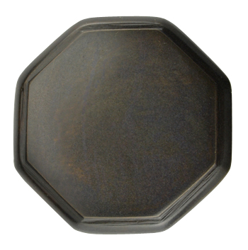 1 5/8 Inch Solid Brass Octagonal Cabinet Knob (Oil Rubbed Bronze Finish)