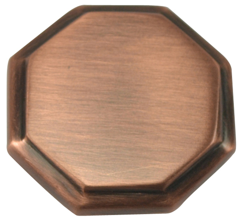 Arts and Crafts and Craftsman Style Hardware - Octagon Knob (Antique Copper)