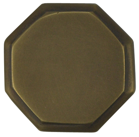 Arts and Crafts and Craftsman Style Hardware - Octagon Knob (Weathered Brass)