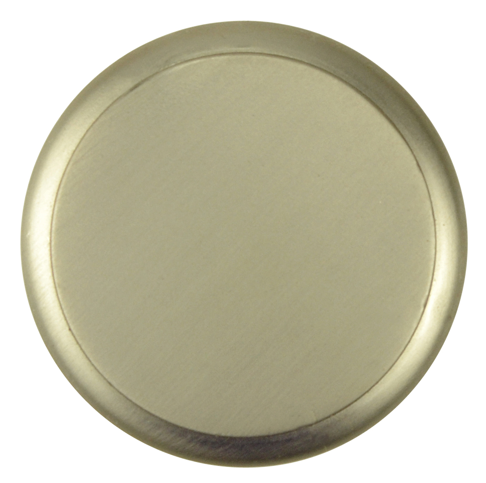 1 1/4 Inch Brass Flat Top Cabinet Knob (Brushed Nickel Finish)