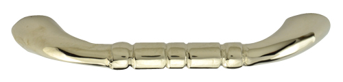 3 1/2 Inch Solid Brass Traditional Pull (Polished Nickel Finish)
