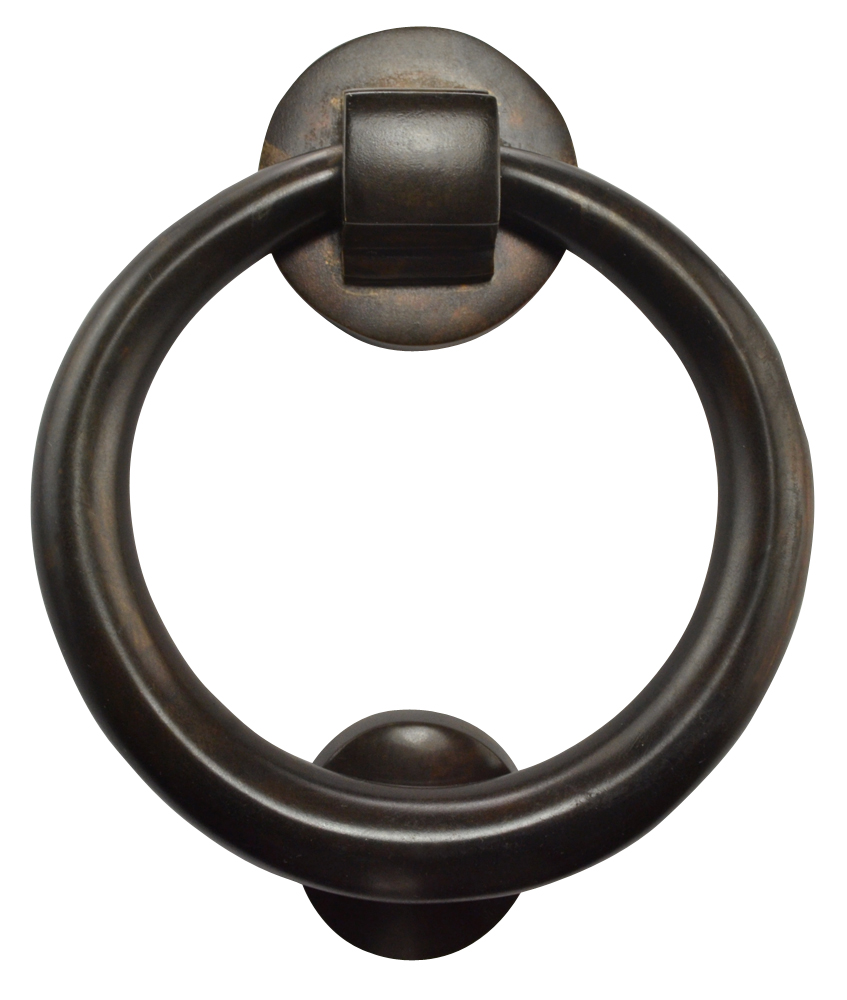 Solid Brass Traditional Ring Door Knocker (Oil Rubbed Bronze Finish)