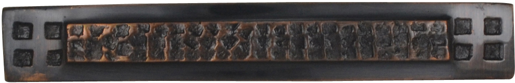 5 Inch Solid Brass Craftsman Hammered Drawer Pull (Antique Copper Finish)