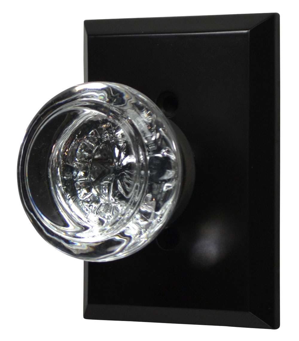 Traditional Round Crystal Door Knob (Oil Rubbed Bronze Finish)