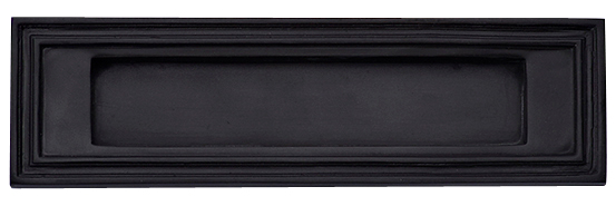 9 3/4 Inch Solid Brass Colonial Mail Slot (Oil Rubbed Bronze Finish)