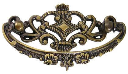Duncan Phyfe Furniture Hardware - Victorian Brass Pull (Antique Brass)