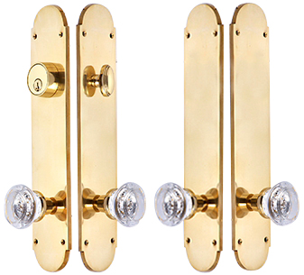 Traditional Oval Double-Door Deadbolt Entryway Set (Polished Brass Finish)