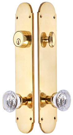Traditional Oval Single-Door Deadbolt Entryway Set (Polished Brass Finish)