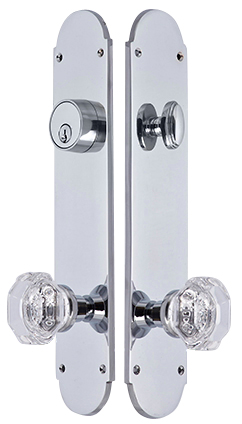 Traditional Oval Single-Door Deadbolt Entryway Set (Polished Chrome Finish)