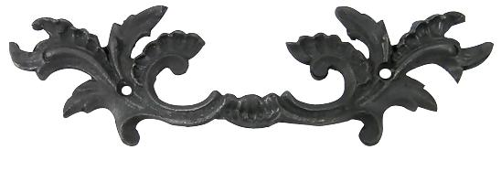 6 5/8 Inch Solid Brass Ornate French Leaves Drawer Pull (Oil Rubbed Bronze Finish)