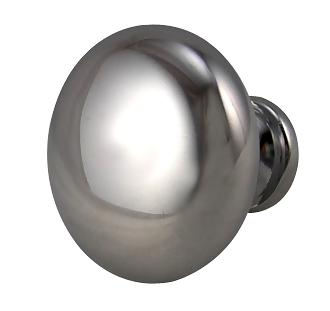 1 1/8 Inch Cast Chrome Knob