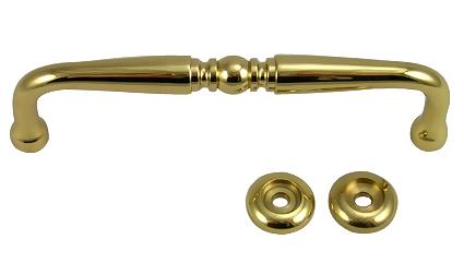 4 7/16 Inch Solid Brass Pull