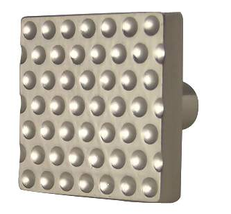 1 Inch Square New York Brushed Nickel Cabinet Knob