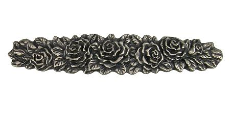 5 1/5 Inch Solid Pewter Rose Pull
