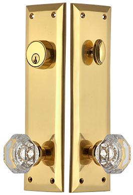 Quaker Style Single-Door Deadbolt Entryway Set (Polished Brass Finish)