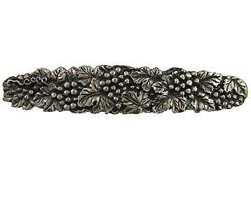 5 1/4 Inch Solid Pewter Antique Grapes And Vines Pull (Satin Pewter Finish)