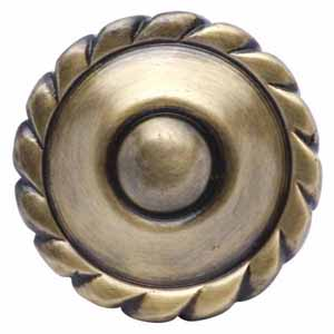 Georgian Furniture Hardware - Antique Brass Knob