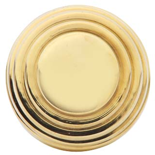 Arts and Crafts and Craftsman Style Hardware - Solid Brass Round Knob (Polished Brass)