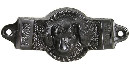 4 Inch Solid Brass Golden Retriever Rectangular Cup Pull (Oil Rubbed Bronze Finish)