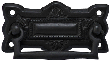 3 3/4 Inch Art Deco Solid Brass Drawer Pull (Oil Rubbed Bronze)