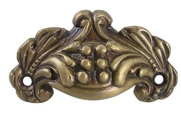 3 Inch Solid Brass Cup Pull (Antique Brass Finish)