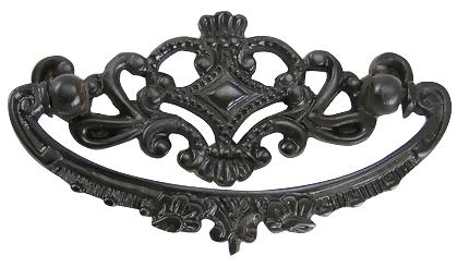 4 1/8 Inch Solid Brass Ornate Victorian Pull (Oil Rubbed Bronze Finish)