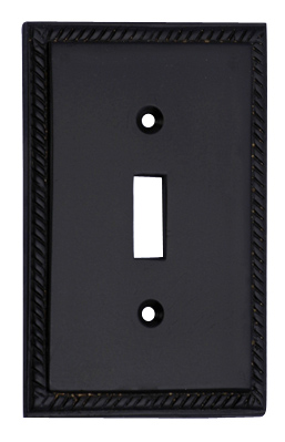 Solid Brass Georgian Roped Switch Plate (Oil Rubbed Bronze Finish)