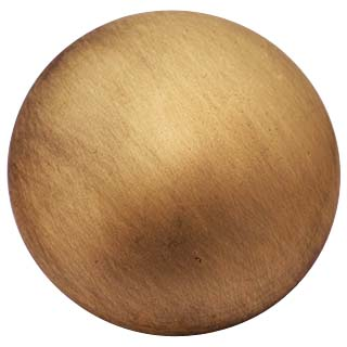 1 1/4 Inch Solid Brass Traditional Round Knob (Antique Brass Finish)