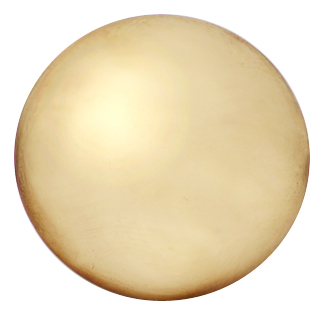 1 1/4 Inch Pure Brass Traditional Round Knob (Polished Brass Finish)