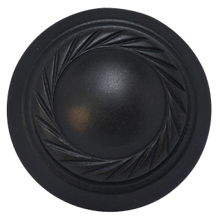 1 1/2 Inch Brass Round Knob with Georgian Roped Border (Oil Rubbed Bronze)