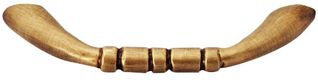 3 1/2 Inch Solid Brass Traditional Pull (Antique Brass Finish)