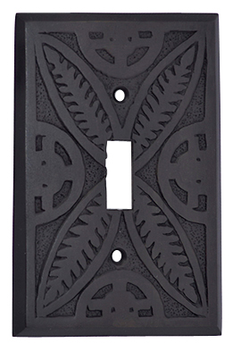 Solid Brass Butterfly Leaf Switch Plate (Oil Rubbed Bronze Finish)