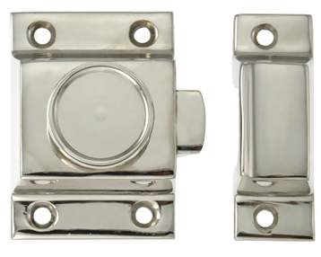 3 Inch Victorian Latch & Catch (Polished Nickel)