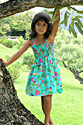 Hawaiian tube dresses for girls