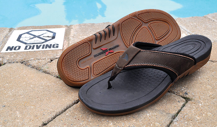 872f3806feca Tiverton Rugged Shark Slip-On Leather Island Thong