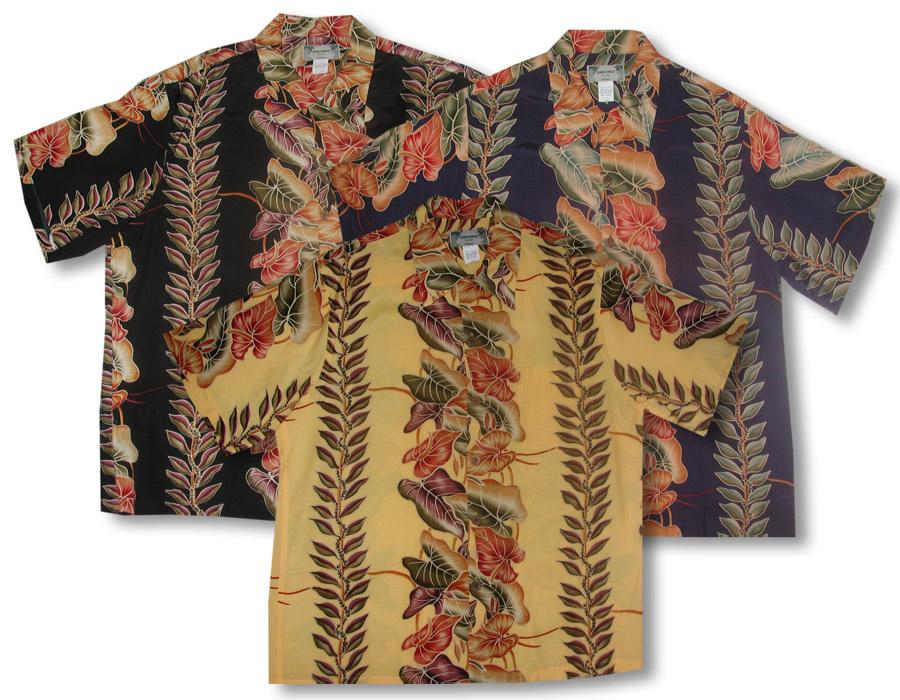 Anthurium Panel Men\'s Vintage Kamehameha