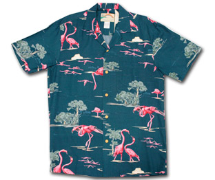 Flamingo Hawaiian Aloha Men's Shirt