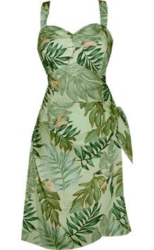 Leaves Hawaiian Sarong Dress