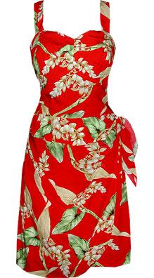 Shell Ginger Hawaiian Sun Dress