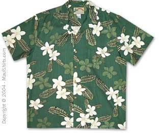 Plumeria Hawaiian Shirt