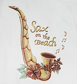 Sax on the Beach Luau Brand Silk Embroidered shirt